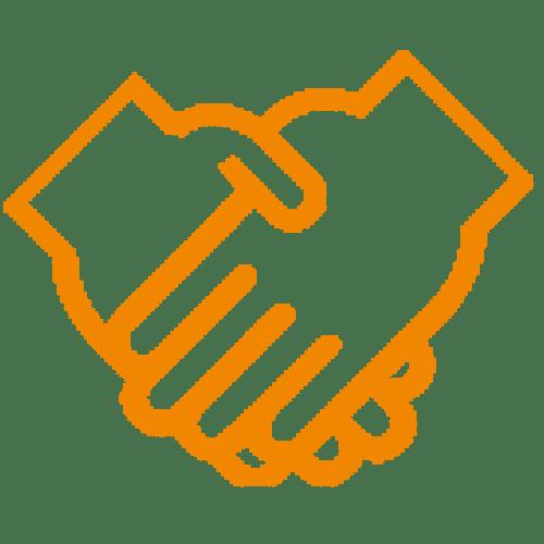 Icon Hausverwaltung Schadenmanagement Zusammenarbeit