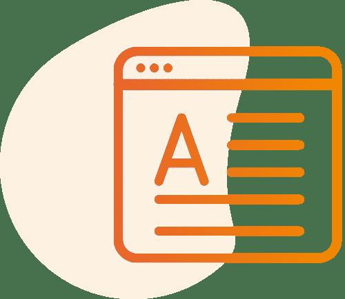 Icon Internetseite digitale Abwicklung