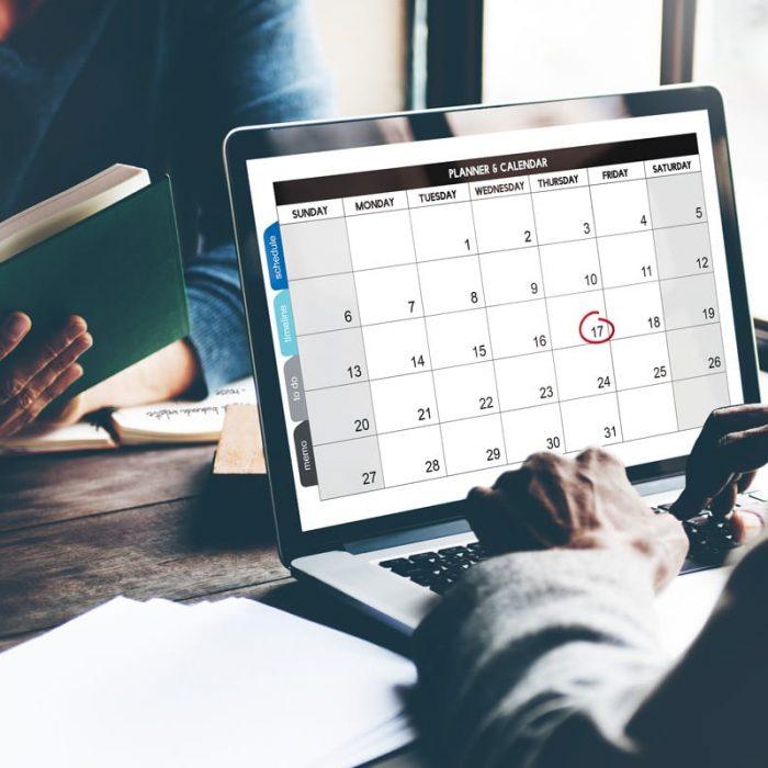 Handwerker Schadenbearbeitung Termine Kalenderansicht